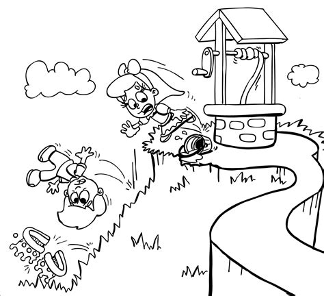 preschool coloring pages jack and jill jill makes an attempted on jack s life muck out productions
