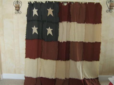 americana raggy shower curtain