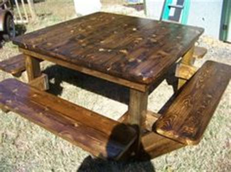square picnic table  benches plans woodworking
