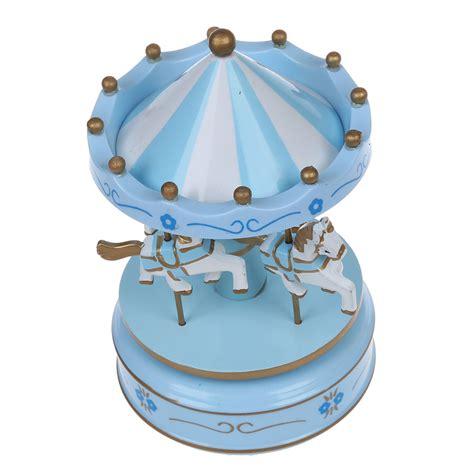 Wooden Musical musical carousel wooden carousel box child