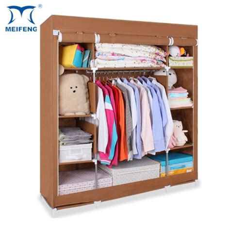 03 Multifunction Wardrobe Cloth Rack With Cover Lemari Pakaia 5 meifeng hanging clothes rack cheap portable closet