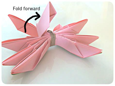 Origami Lotus Tutorial - origami origami how to make a lotus flower origami lotus
