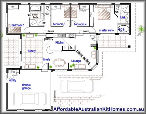 cheapest 4 bedroom house to build affordable 4 bedroom study kit home australian kit