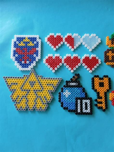 perler images nintendo legend fo perler bead magnets four