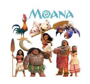 moana disney movie 2016 clipart от foxartcards на etsy