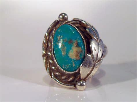 vintage navajo pawn silver turquoise ring sz 6 ebay
