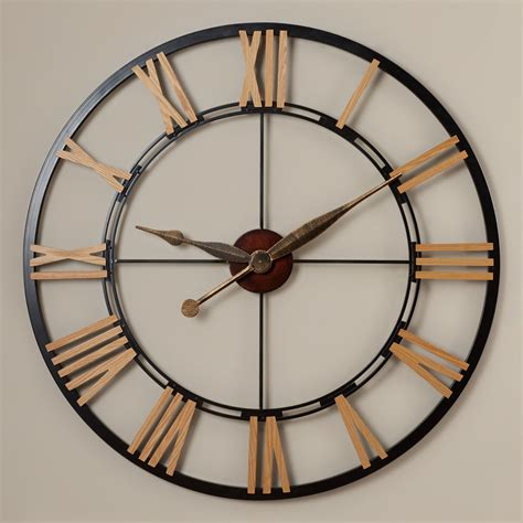 huge wall clocks rosalind wheeler oversized 45 quot cologne wall clock