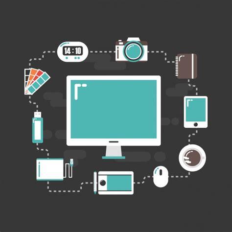 web design tools vector free download flat graphic design tools vector free download