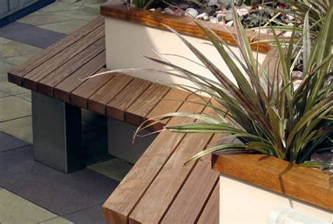 bench terrace design contemporary small garden design creative yard