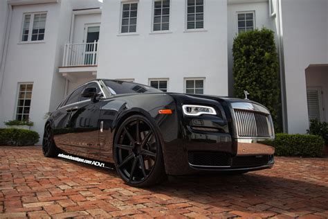 roll royce ghost all black rolls royce ghost adv08 m v1 sl ppg wheels adv 1 wheels