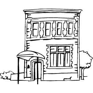 Apartment Printable Apartment Building Coloring Page
