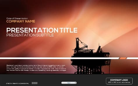 powerpoint templates free oil oil industry powerpoint template
