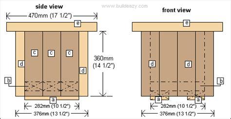wood flower box plans pdf woodworking