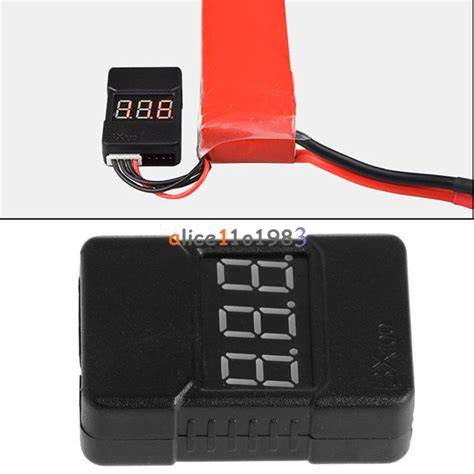 2 In 1 Lipo Monitor Buzzer High Quality bx100 1 8s lipo li ion battery voltage tester monitor low
