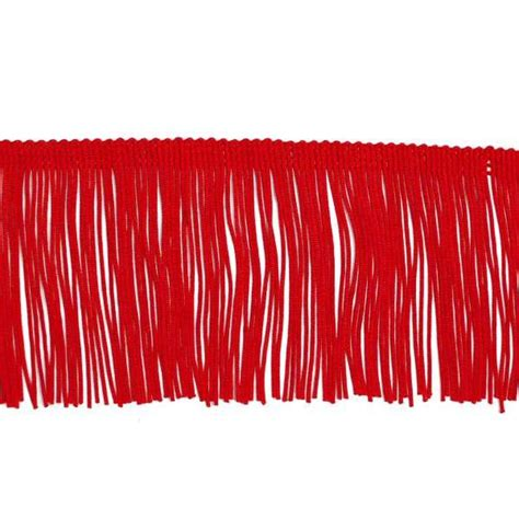 upholstery fringe trim 3 quot red chainette fabric fringe trim by the yard