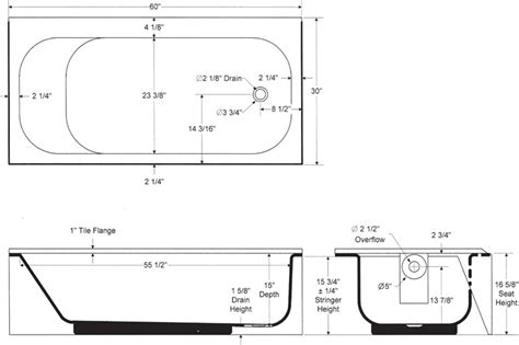 standard length of a bathtub mauicast bootz industries