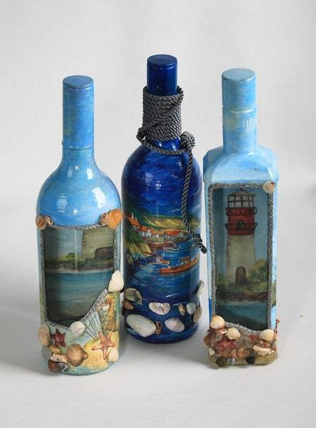 Decoupage Bottles - decoupage bottles decoupage