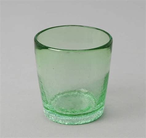 Recycled Glass Barware 3 1 2 Rocks Tumbler Green Recycled Glass Hickoree S