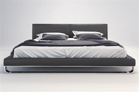 chelsea bed queen slate modern digs furniture