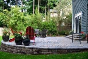 patio designs for sloped yards sloped yard design ideas pictures remodel and decor