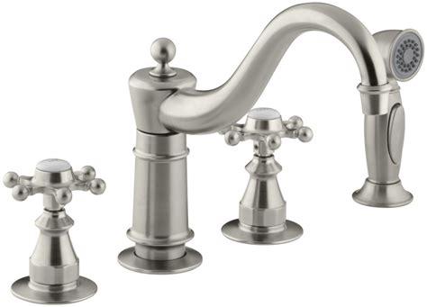 kohler brushed nickel kitchen faucet 2018 faucet k 158 3 bn in brushed nickel by kohler