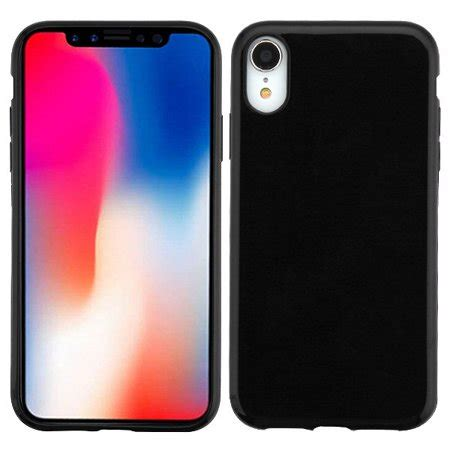 apple iphone xr 6 1 inch phone slim thin hybrid silicone rubber gel soft protective