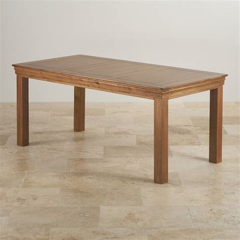 Farmhouse 6ft Dining Table Rustic Solid Oak