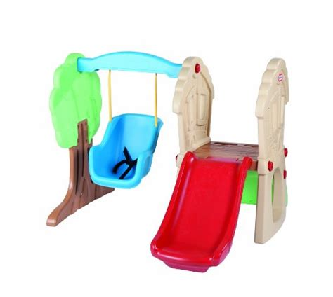 baby slide and swing set outdoor climbing toys for toddlers home garden life