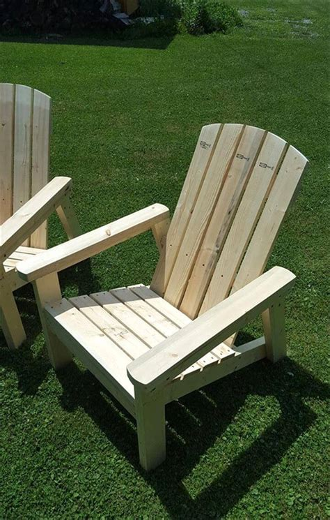 Handmade Adirondack Chairs - upcycled pallet adirondack chairs 101 pallets