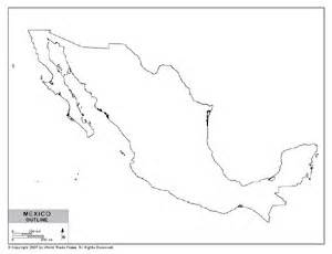 outline map of mexico by bestcountryreports