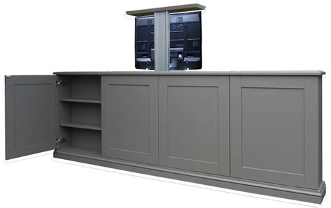 End of Bed pop up TV Cabinet with lift   Bedroom Pop Up TV