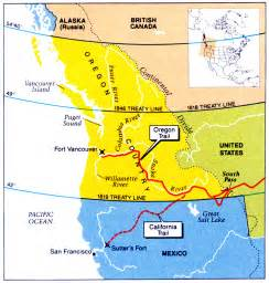 map of oregon territory mexican war maps