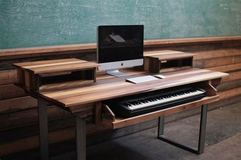 Mid Size 61 Key Studio Desk For Audio Video Music Audio Studio Desk