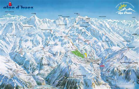 Alpe d'Huez Plan des pistes de ski Alpe d'Huez