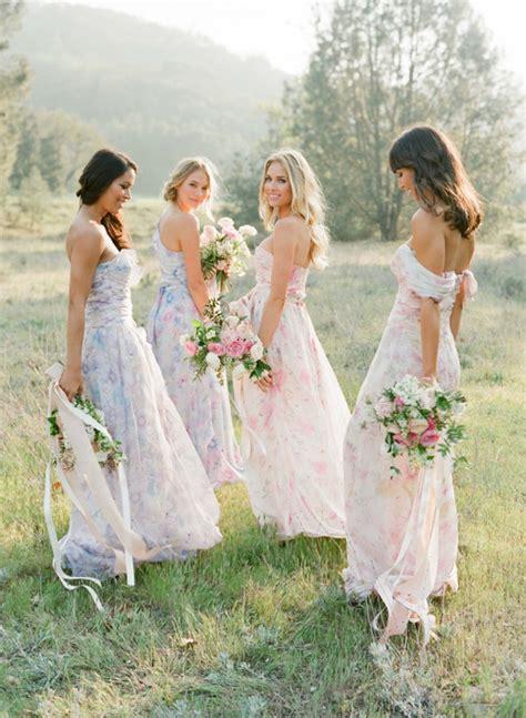 Dress Sabrina Flowers Vintage pastel floral print bridesmaid dresses by pps couture