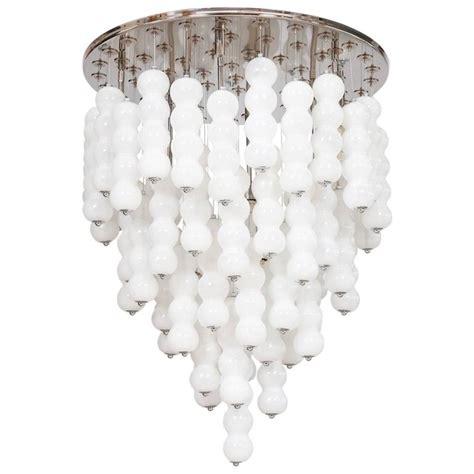 White Murano Glass Chandelier Italian Chandelier In White Murano Glass Mazzega 1980s For Sale At 1stdibs