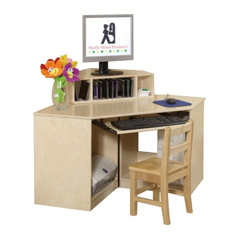 Children S Computer Desk Steffy Wood Products Swp1358 Corner Computer Center Desk Atg Stores