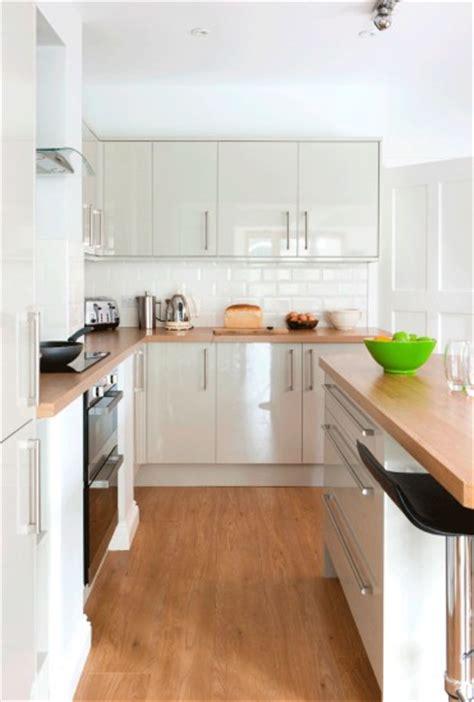 white gloss and wood kitchen high gloss white kitchen wooden worktops floor ceramic