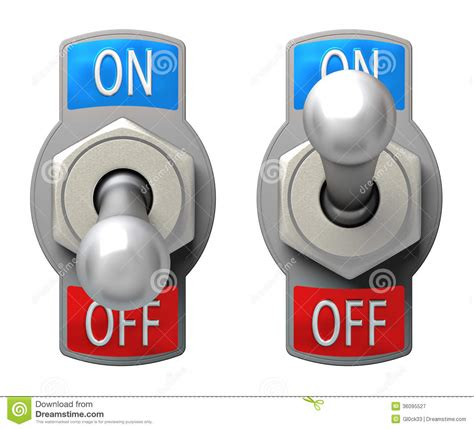 Switch On toggle switch stock illustration image of negative electrical 36095527