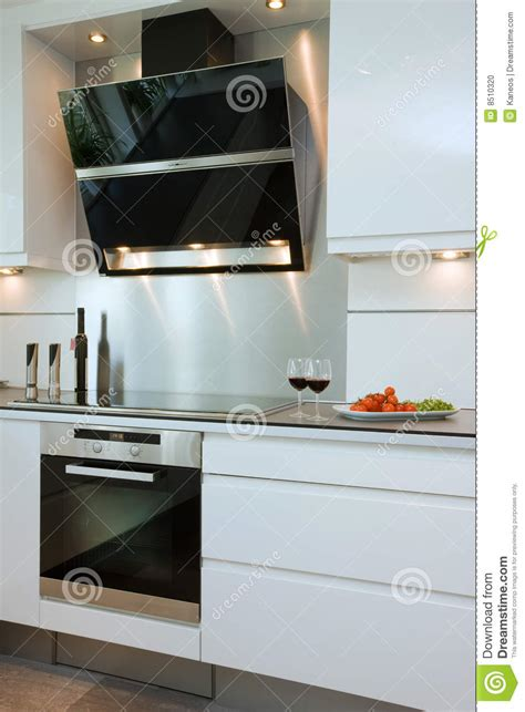 modern kitchen extractor fans modern kitchen stock photo image 8510320