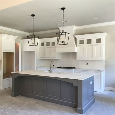 kitchen island cupboards 25 best ideas about grey kitchen island on pinterest