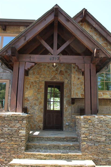 post  beam entrance curb appeal exterior stairs