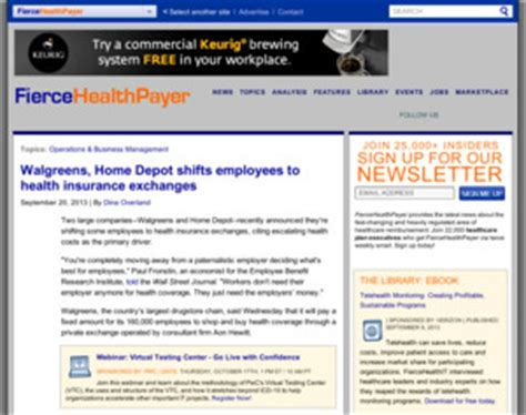 walgreens home depot shifts employees to health insurance