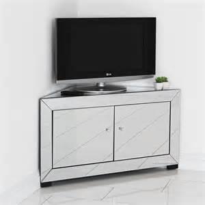 Mirrored Tv Cabinet Living Room Furniture Venetian Mirrored Corner Tv Cabinet