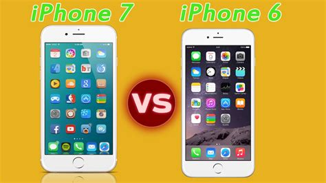 compare new iphone 7 vs iphone 6 features and specification