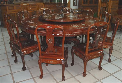 Marble Pedestal Dining Table Rosewood Furniture Inlaid With Mother Of Pearl From