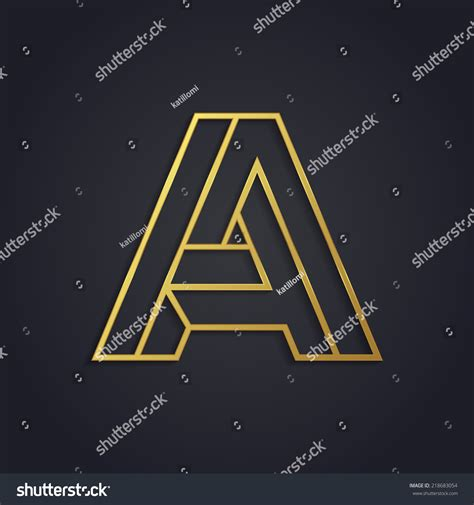 lettere impossibile vector graphic gold alphabet impossible letter symbol