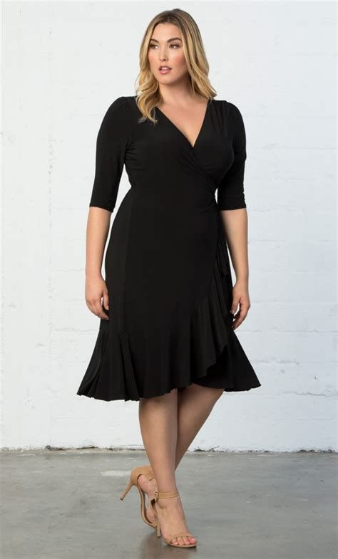 kiyonna beautiful black dresses size 10 32 lbd