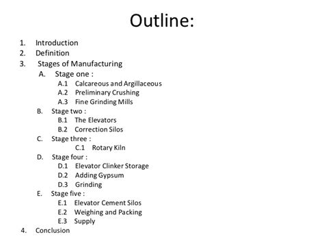 Outline Meaning by Portland Cement