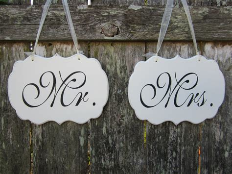 Mr And Mrs Chair Signs by Mr And Mrs Wedding Chair Signs Wedding Chair Signs